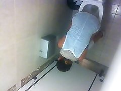 Nice teen in restaurant toilet (part 2 from up)
