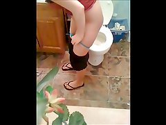 my ex at my house restroom once more