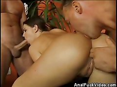 Bombshell Anal Fucked In A Threesome