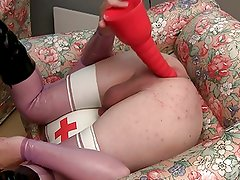 Big dildos and nurse uniform