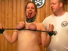 Fat girl takes tit torture