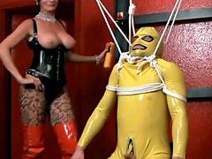 Kinky latex dominatrix in mixed video