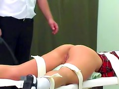 Bound girl abused on the ass