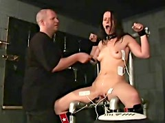 Gagged girl caned in hot video