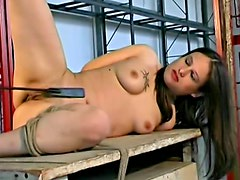 Dolor - After bad abuse she toys fucks pussy