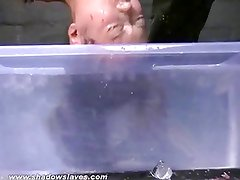 Teen Tigerrs suspension bondage and water torture breathplay