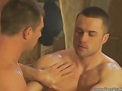 Two hot gay couple massage