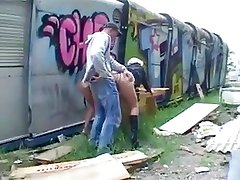 Public outdoor sex with hot bitches