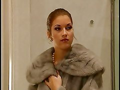 Hot Threesome with italian fur Lady in a toilet