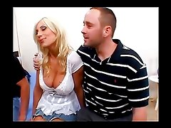 Husband Shares Sexy Blonde Wife with Friend
