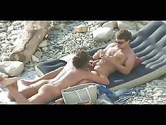 Nudist Blowjob on the beach