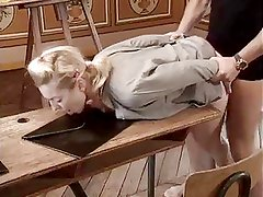 Ivona Zampova fucked on school desk.