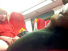 Black Cock on the Train to Putney - Pussy