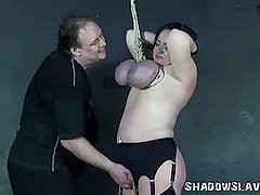 Andreas Mature Breast Bondage Suspension