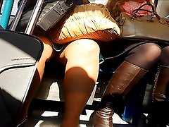 Upskirt with Suitcase
