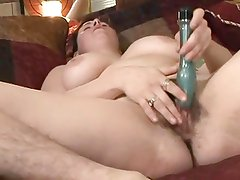 Fat Chubby Ex GF with hairy legs and Pussy masturbating.