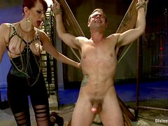 John Jammen gets whipped and tortured by Maitresse Madeline in BDSM vid