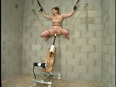 Nasty Dolores Haze gets suspended and toyed by a machine