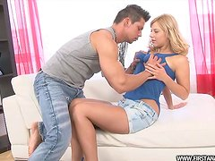 Pretty Nicole gets toyed and fucked in her hot ass