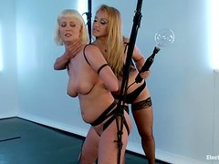 Cherry Torn gets tied up and toyed with electro dildo