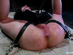 Sarah Shevon gets brutally beaten and fucked with toys