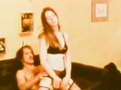 Retro fucking scene with excellent milf in sexy lingerie