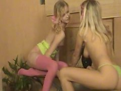 Amber and her sister are sucking so nasty