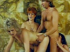Retro babes enjoying group sex