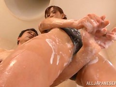 Fucking Minami Aoi Japanese Girl in Swimsuit in the Shower