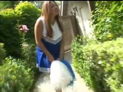 Sexy Cheerleader Laura Sucking Trainers Cock And Fucking Doggystyle