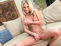 Kiara Diane with small boobs and hairless beaver has