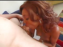 Interracial sex with a very sexy ebony babe with stunning body