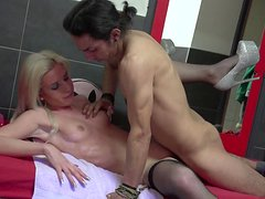Slender blonde Gabrielle was fucked by her bf