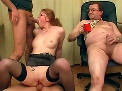 Milf fuck with two small dicks