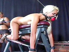 Dirty blondes in lesbian BDSM