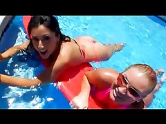 Big asses in the water pool