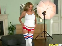 Graceful Candy Alexa gets fucked in both holes by two guys