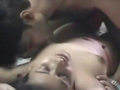 Kissing and fondling cute young Indian girl