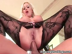Amazing Bodystockings sex with beautiful blonde porn star