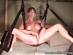 Rate this busty MILF - swing set sex