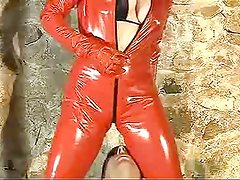 facesitting in catsuit