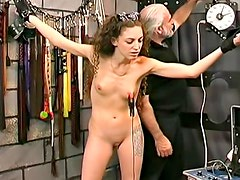 Bruising her ass with a flogger