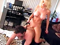 Busty lady with long hair is dreaming about wild fuck
