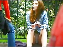 Spying Upskirt Girl in French Street BVR