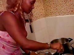 Black French Mature Maid Fucked by her White Boss