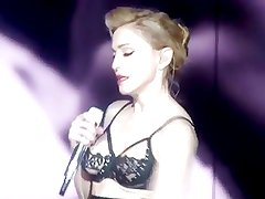 Madonna flashes Ass in concert at Rome