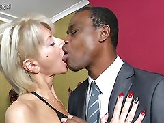 Hot white mother go black while hubby away