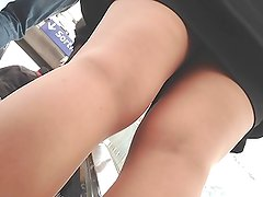 Pink shoes girl upskirt 1