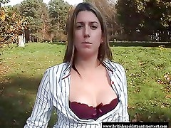 First time British milf makes her first movie outdoors