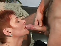 Short Haried Milf Getting Pounded On The Couch